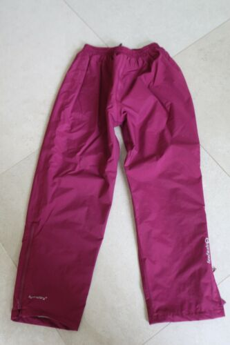 girls waterproof trousers hiking walking forest school sprayway age 10-11 pink