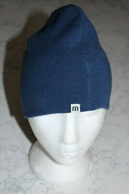 5df29fe472a NEW MENS TRAVIS MATHEW HOMAN BEANIE -MICROCHIP REVERSIBLE BLUE TAN ONE SIZE