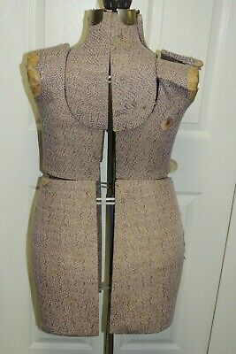 Vintage Adjustable Full Size Dress Form Mannequin Rare Plus Model Metal Base