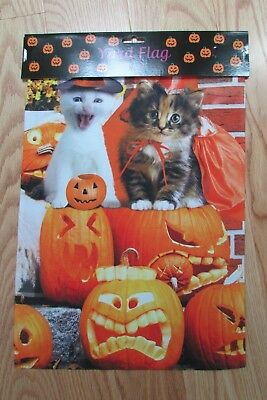 Halloween Cats Kittens House Yard Flag  Lawn Banner Home Decor Flags 28