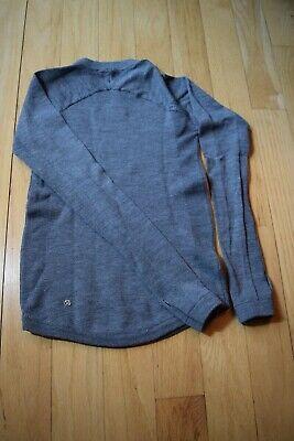 Lululemon Grey Merino Wool Crew Neck Sweater Women's Sz 2