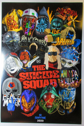 James Gunn Director Signed 'The Suicide Squad' 12x18 Poster Photo PROOF ACOA F