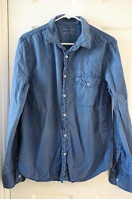 NEW Save Khaki United Medium M Button-Up Shirt - Blue