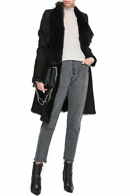 Karl Donoghue Lambskin Reversible Coat in Black  Brand New Size Large Harrods