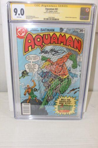 Signed AQUAMAN #61 CGC 9.0 SS Bob McLeod - Batman & Kobra appearances 1978