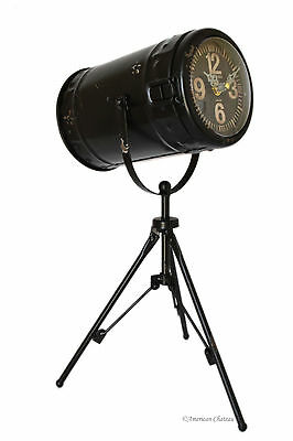 Antique-Style 15.5 x 10 Tripod Camera Light Tabletop Mantel Clock