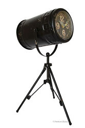 Antique-Style 15.5 x 10 Tripod Camera Light Tabletop Mantel Clock