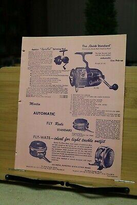 Dealer Vintage Fishing Tackle Catalog pg 25/26 Heddon Martin casting reels