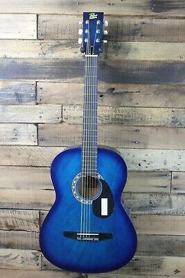 Rogue Starter Acoustic Guitar, Blue Burst  7/8 size - Return, plays great #R3009