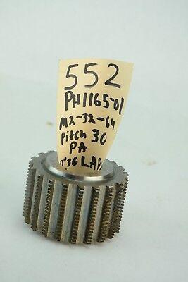 Gear Hob Cutter M2 32 64 Pitch 30 Pa 0 Deg 36 Larh 1 14 Bore