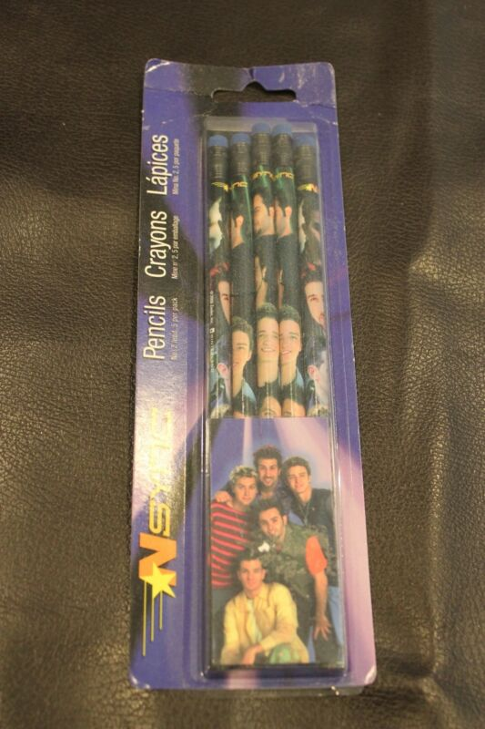 SALE: New in Package Set 5 of NSYNC Pencils with Erasers