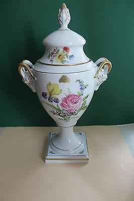 Vase, Deckelvase, Widderkopfvase von Lindner ,Motiv Senator, Höhe 45 cm