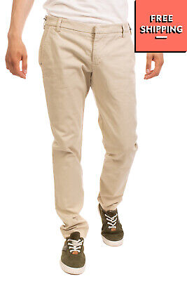 RRP €140 ENTRE AMIS Gabardine Chino Trousers Size 36 Stretch Low Waist Zip Fly