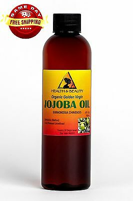 JOJOBA OIL GOLDEN ORGANIC CARRIER UNREFINED COLD PRESSED RAW VIRGIN PURE 4 OZ