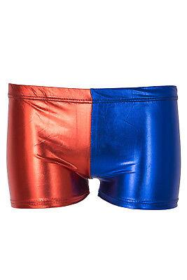 Damen Truppe Party Kostüm Shorts Rot Blau Damen Halloween Hotpants