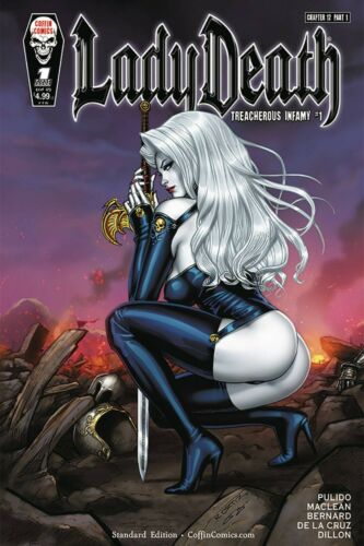 LADY DEATH TREACHEROUS INFAMY #1 COVER A RICHARD ORTIZ PRE-ORDER FOR LATEJULY BP
