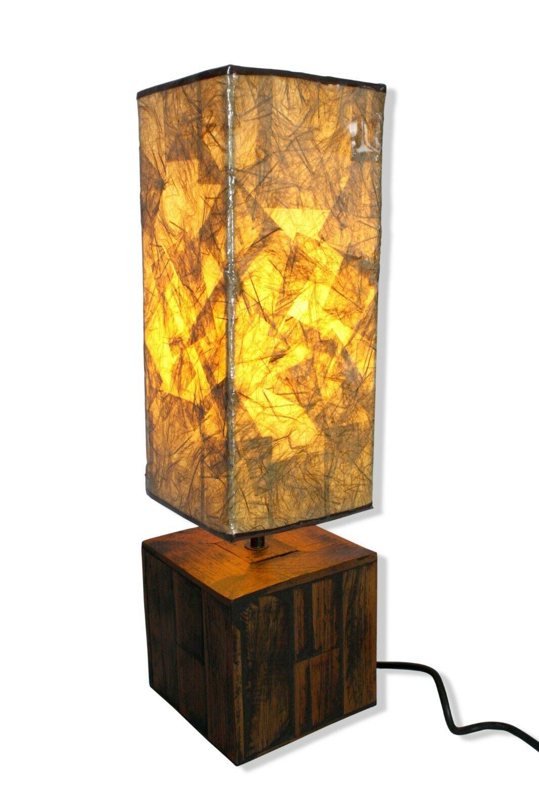 Natürlich Thai Beleuchtung Teakholz Basis Lampe. 54cm.Tatami Lampenschirm Modern
