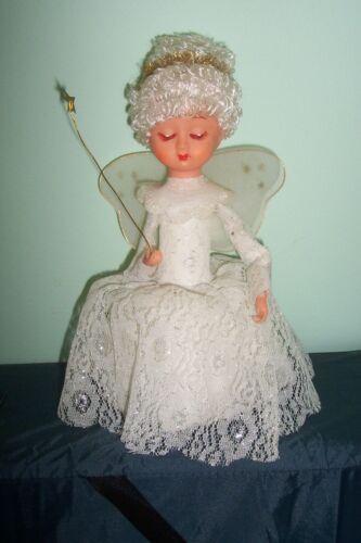 Vintage Christmas musical revolving  plastic Angel figure Doll Japan