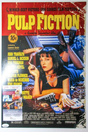 Quentin Tarantino Signed 'Pulp Fiction' 12x18 Movie Poster Photo JSA Django