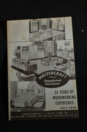 1959 Mastercraft Unpainted Furniture Catalog