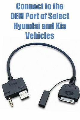 iPhone 4 4S iPod Nano iTouch Cable for some Hyundai Kia with OEM Port Connection Ipod Nano Port