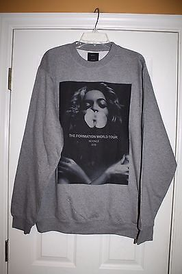 New Authentic Beyonce Formation World Tour Merch Orchid Crewneck Sweatshirt XL