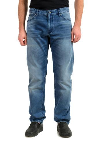 HUGO BOSS Herren Maine3 Regular Fit Blau Waschung Gerades Bein Jeans