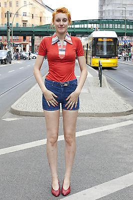 Askari Damen Hose kurz Jeans blauhot shorts blue 90s True VINTAGE 90er women