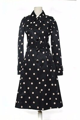 Kate Spade New York Women's Polka Dot Trench Coat  Long Jacket size 6