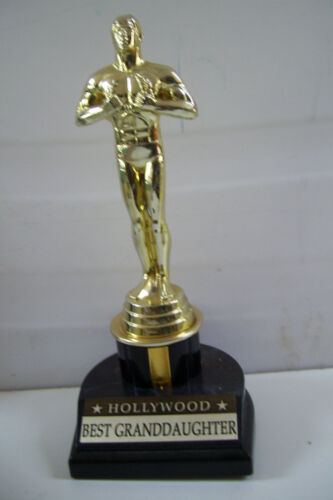"""Rare HOLLYWOOD AWARD MOVIE FAMOUS OSCAR TROPHY - """"BEST GRAND DAUGHTER"""" 8"""" TALL"""