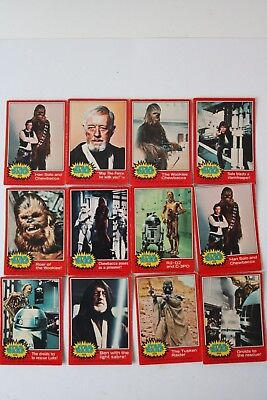 Star Wars Topps 1977 Trading Cards Red & Blue x 17