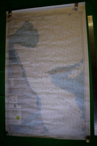 Bahamas -Tongue of the Ocean 36x56 Vintage 1980 Nautical Chart/Map