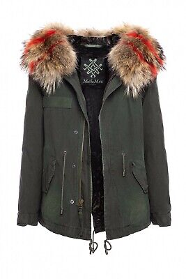 Mr & Mrs Italy Womens Waterproof Shearling Lined Hooded Parka London Grn Size XS