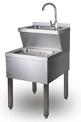 Edelstahl Handwaschbecken Ausgussbecken Kombination  Waschbecken 500x700x850 mm