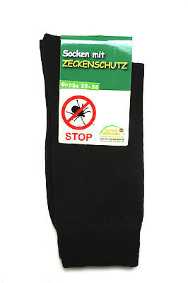 Baumwolle Socken Wandern (4 Paar Zecken Schutz Socken tick socks Wald Garten Outdoor Wandern Camping 35-46)