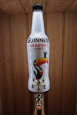Guinness Stout Beer Tap Handle Real Glass Bottle Toucan Edition Home Bar -