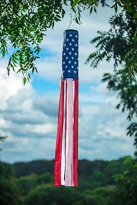 "American Flag Windsock 60"" Show United States Patriotic Support USA Windsock"