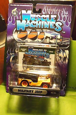 Muscle Machines USA Military Jeep Orange & Black  Die Cast Car New Not Opened
