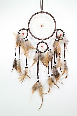 Brown Handmade Dream Catcher With Feathers Wall Hanging Decoration Gift