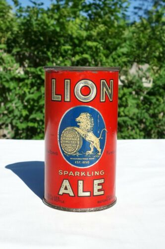 LION Ale OI Flat Top Beer can (UNLISTED, L492) Phillips collection NICE & clean!