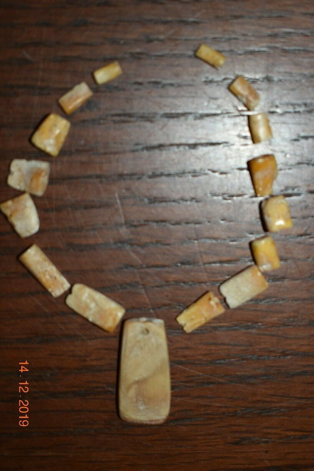 SALE PRE COLUMBIAN MAYAN SHELL NECKLACE, 8 PROV - $199.99