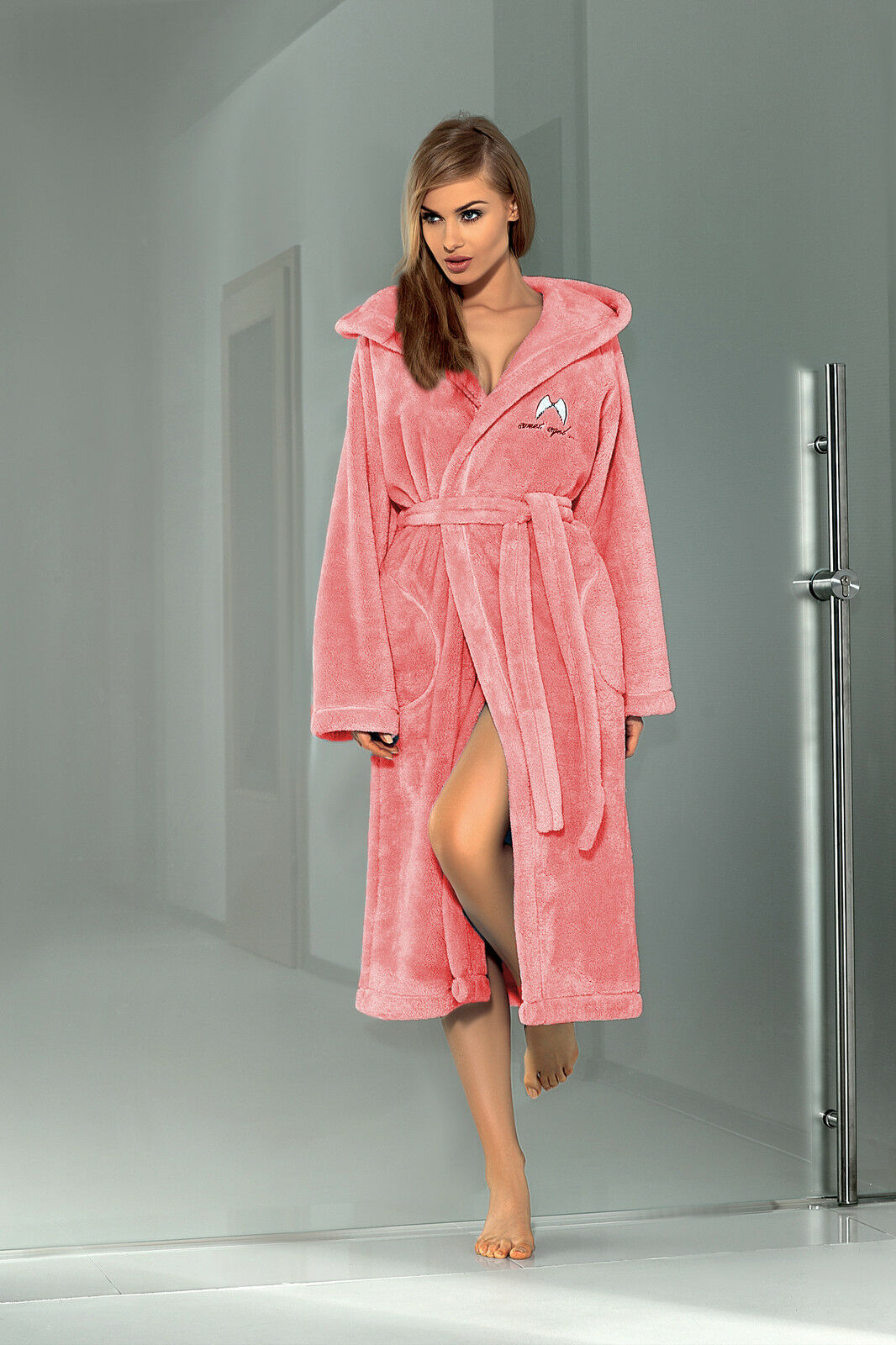 Women Luxury SOFT Robe Housecoat Dressing Gown Hooded Bathrobe UK ...