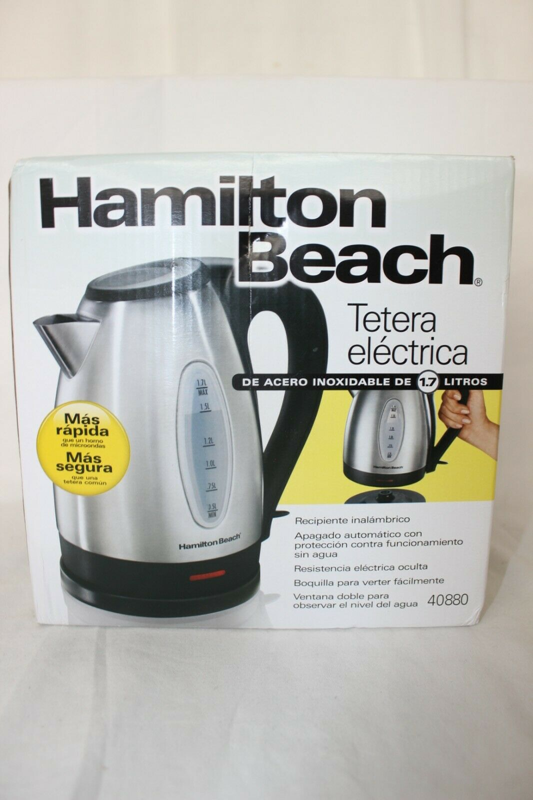 Hamilton Beach® Stainless Steel 1.7-Liter Electric