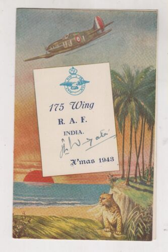 GREAT BRITAIN,INDIA, R.A.F. Christmas party menu 1943 with autographs RRR