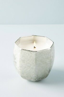 Anthropologie Candle ILLUME Silver Glass FROSTED WINDOWPANE Fireside 80Hr NWT