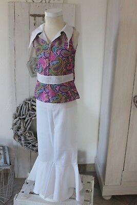 Kostüm Hippie Faschingskostüm Karneval Hippiekostüm pink Gr.S 104 110 116 neuw.!