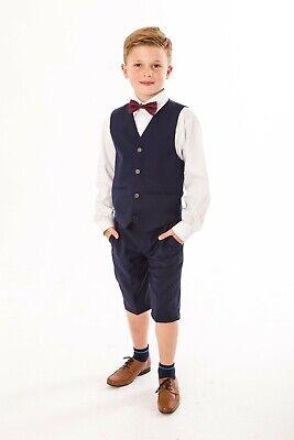 4tlg. Festlicher Kinder Jungen Anzug für den Sommer, Shorts, Hochzeit, Kommunion (Anzüge Kinder)