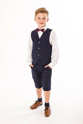4tlg. Festlicher Kinder Jungen Anzug für den Sommer, Shorts, Hochzeit, Kommunion