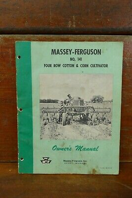 Vintage Massey Ferguson No.141 Cotton Corn Cultivator Owners Operators Manual