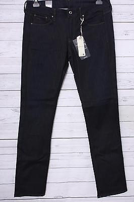G-star Straight Leg Jeans (G-STAR Damen Straight Leg Jeanshose Attacc Mid Wmn, Gr. W32/L34, Blau)